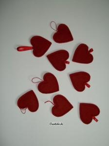 Herzchen aus Filzstoff