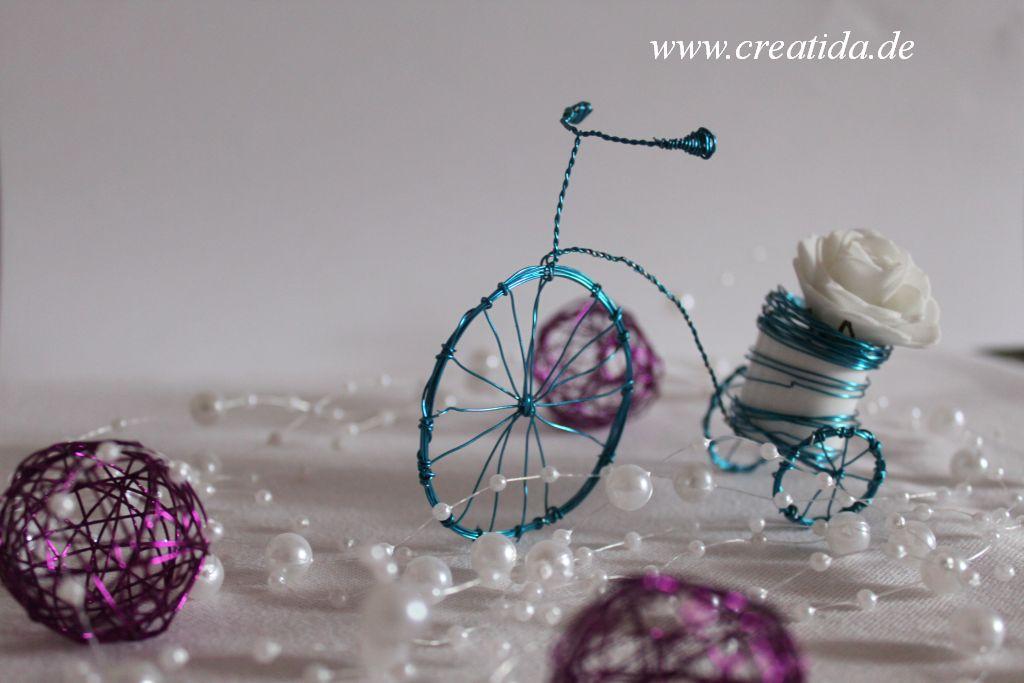 Dreirad oder doch ein Draht Deko Rad | Creatida.de alles rund um DIY