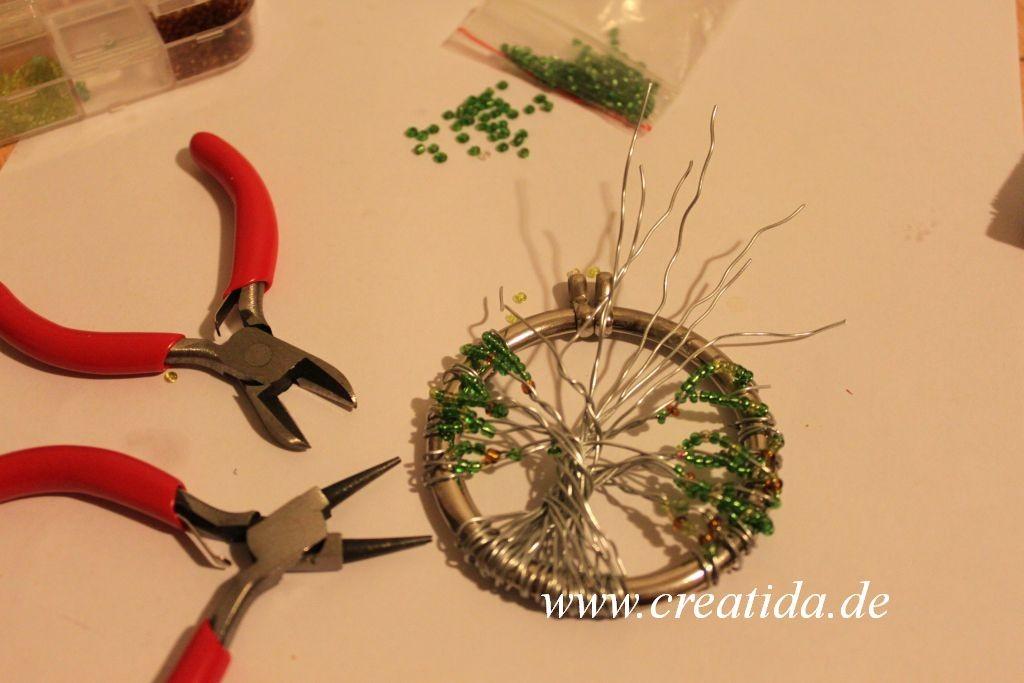 """Aufhänger """"Baum, dessen Laub nicht welkt"""" wire wrap Draht Designs ..."""