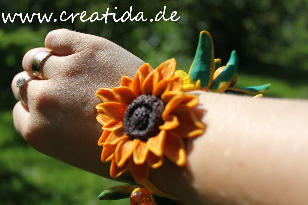 armband sonnenblume